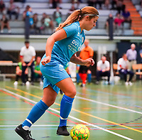 20190915– HALLE , BELGIUM : FP Halle-Gooik Girls A's player R. Hensmans is pictured during the Belgian Women's Futsal D1 match between FP Halle-Gooik A and FP Halle-Gooik B on Sunday 15th 2019 at the De Bres Sport Complex in Halle, Belgium. PHOTO SPORTPIX.BE | Sevil Oktem