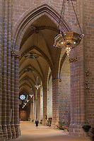 Espagne, Navarre, Pampelune,  Cathédrale Sainte-Marie de Pampelune,  la nef // Spain, Navarra, Pamplona, Pamplona Cathedral, San the nave