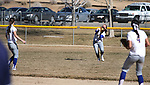 Western Nevada College's Andrea Lee makes a catch in left field during a college softball game against Salt Lake Community College on Friday, Feb. 15, 2013, in Carson City, Nev. SLCC won the opener 4-2..Photo by Cathleen Allison