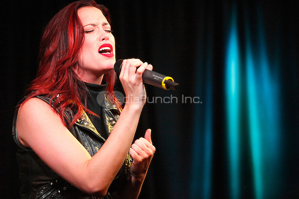Jessica Sutta, from The Pussycat Dolls, pictured solo at Q 102's iHeart Performance Theater in Bala Cynwyd, Pa on March 23, 2012  © Star Shooter / MediaPunchInc
