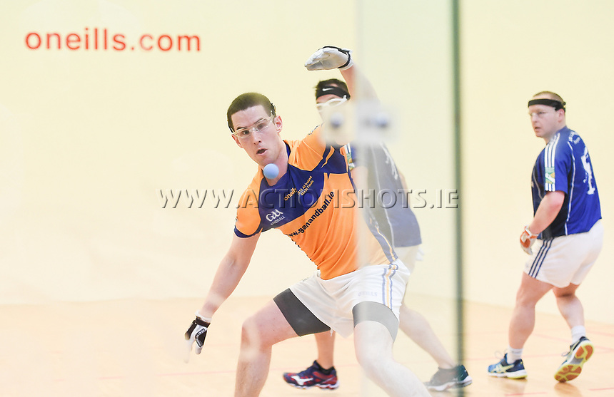 07/04/2018; GAA Handball O&rsquo;Neills 40x20 Championship Mens Senior Final - Cavan (Paul Brady/Michael Finnegan v Clare (Diarmuid Nash/Colin Crehan); Kingscourt, Co Cavan;<br /> Diarmuid Nash<br /> Photo Credit: actionshots.ie/Tommy Grealy