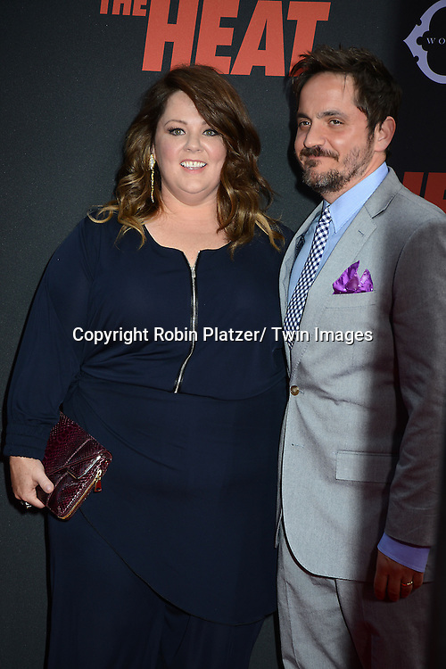"Melissa McCarthy and husband Ben Falcone attends the New York Premiere of ""The Heat"" on June 23,2013 at the Ziegfeld Theatre in New York City. The movie stars Sandra Bullock, Melissa McCarthy, Demian Bichir, Marlon Wayans, Joey McIntyre, Jessica Chaffin, Jamie Denbo, Nate Corddry, Steve Bannos, Spoken Reasons and Adam Ray."