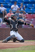 Catcher Billy Killian (24) of the Winston-Salem Warthogs on defense at Ernie Shore Field in Winston-Salem, NC, Saturday August 9, 2008. (Photo by Brian Westerholt / Four Seam Images)