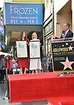 Irina Menzel, Kristen Bell -Star WofF 045 Mayor Eric Garcetti ,  Kristen Bell And Idina Menzel  Honored With Stars On The Hollywood Walk Of Fame on November 19, 2019 in Hollywood, California