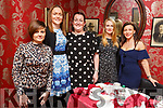 Paulette O'Halloran, Hannah McCarthy, Evelyn Quinn, Margaret Kelliher and Marie McKenna enjoying Women's Christmas in Cassidys on Saturday night.