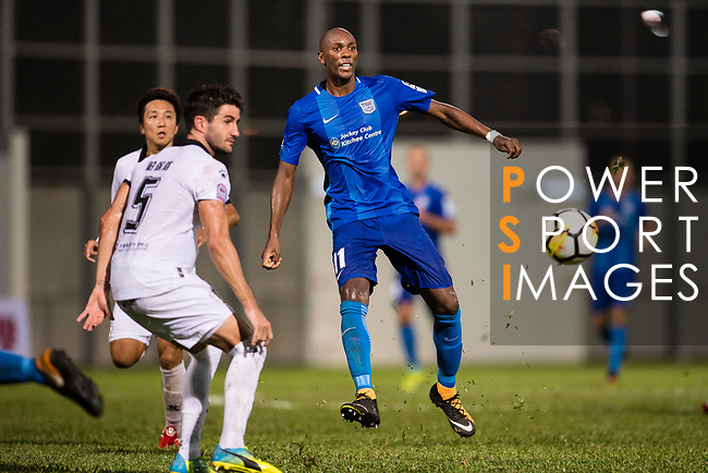 SC Kitchee Forward Alessandro Ferreira (R) in action during the week two Premier League match between Kitchee and Dreams FC at on September 10, 2017 in Hong Kong, China. Photo by Marcio Rodrigo Machado / Power Sport Images