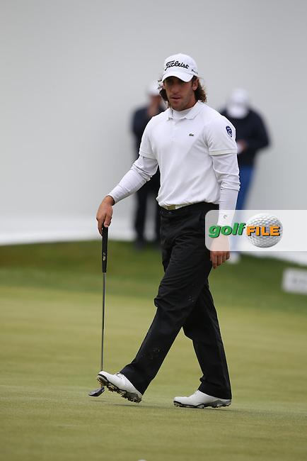 Romain Wattel (FRA) on the last during the Final Round of the BMW International Open 2014 from Golf Club Gut Lärchenhof, Pulheim, Köln, Germany. Picture:  David Lloyd / www.golffile.ie