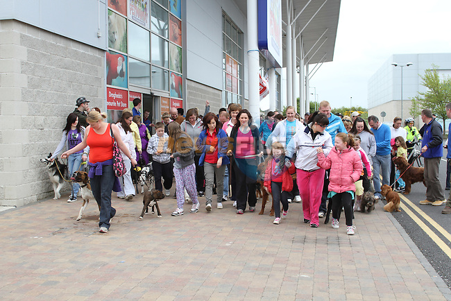 """Enjoying """"National Dog Walking Day"""" at Petmania...(Photo credit should read Jenny Matthews www.newsfile.ie)....This Picture has been sent you under the conditions enclosed by:.Newsfile Ltd..The Studio,.Millmount Abbey,.Drogheda,.Co Meath..Ireland..Tel: +353(0)41-9871240.Fax: +353(0)41-9871260.GSM: +353(0)86-2500958.email: pictures@newsfile.ie.www.newsfile.ie."""