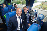 St Johnstone v Dundee United....17.05.14   William Hill Scottish Cup Final<br /> Chris Iwelumo and Steven Anderson on the journey back to Perth<br /> Picture by Graeme Hart.<br /> Copyright Perthshire Picture Agency<br /> Tel: 01738 623350  Mobile: 07990 594431