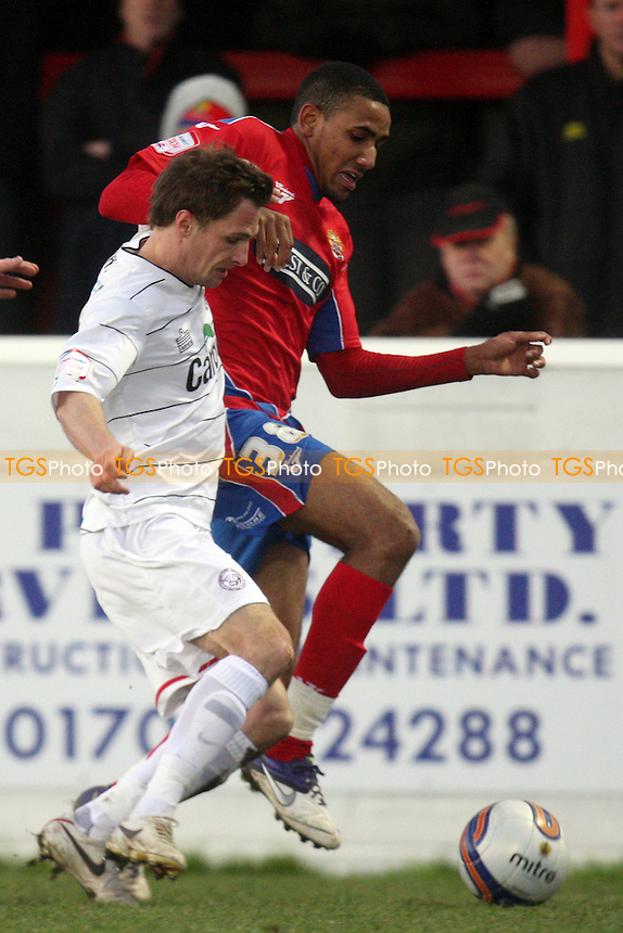 Cristian Montano of Dagenham and Redbridge - Dagenham vs Hereford - at the London Borough of Barking and Dagenham Stadium - 14/01/12 - MANDATORY CREDIT: Dave Simpson/TGSPHOTO - Self billing applies where appropriate - 0845 094 6026 - contact@tgsphoto.co.uk - NO UNPAID USE.