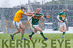 Fionán MacKessy Kerry in action against Shane Whitty Meath during the Allianz Hurling League Division 2A Round 5 match between Kerry and Meath at Fitzgerald Stadium in Killarney, on Sunday.