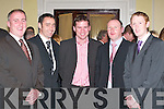 Hopping ball: At the Seamus Moynihan tribute in the Killarney Great Southern Hotel last Friday night were, l-r: Padraig Laide, Pa Laide, Dara O Cinneide, Declan OKeeffe and Colm Cooper..