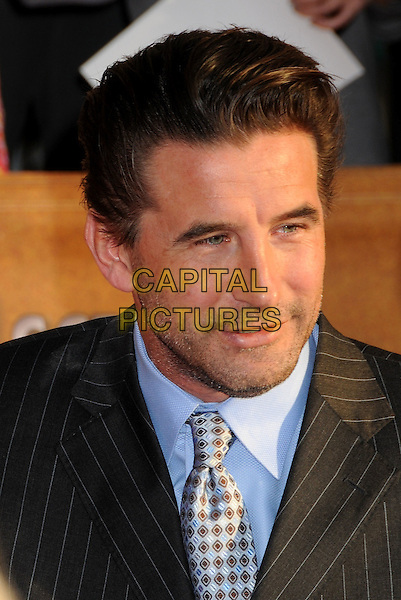 WILLIAM BALDWIN.16th Annual Screen Actors Guild Awards - Arrivals held at The Shrine Auditorium, Los Angeles, California, USA..January 23rd, 2009.SAG SAGs headshot portrait black grey gray blue pinstripe stubble facial hair .CAP/ADM/BP.©Byron Purvis/Admedia/Capital Pictures