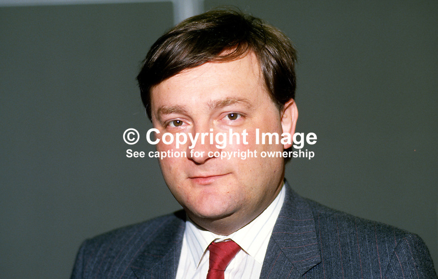Nicholas Brown, MP, Labour Party, UK, 19870924NB..Copyright Image from Victor Patterson, 54 Dorchester Park, Belfast, UK, BT9 6RJ..Tel: +44 28 9066 1296.Mob: +44 7802 353836.Voicemail +44 20 8816 7153.Skype: victorpattersonbelfast.Email: victorpatterson@me.com.Email: victorpatterson@ireland.com (back-up)..IMPORTANT: If you wish to use this image or any other of my images please go to www.victorpatterson.com and click on the Terms & Conditions. Then contact me by email or phone with the reference number(s) of the image(s) concerned.
