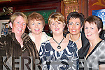 LADIES: Enjoying the Listry Parish Social in the Killarney Avenue Hotel last Friday night were, l-r: Noreen OShea, Caroline Allman OBrien, Breda ODonoghue, Bernadette OSullivan and Marian Gallagher..