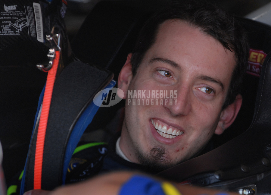 Apr 19, 2007; Avondale, AZ, USA; Nascar Nextel Cup Series driver Kyle Busch (5) during practice for the Subway Fresh Fit 500 at Phoenix International Raceway. Mandatory Credit: Mark J. Rebilas