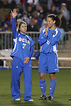 05 December 2008: UCLA's McCall Zerboni (7) and Lauren Cheney (8). The University of North Carolina Tar Heels defeated the University of California Los Angeles Bruins 1-0 at WakeMed Soccer Park in Cary, NC in an NCAA Division I Women's College Cup semifinal game.