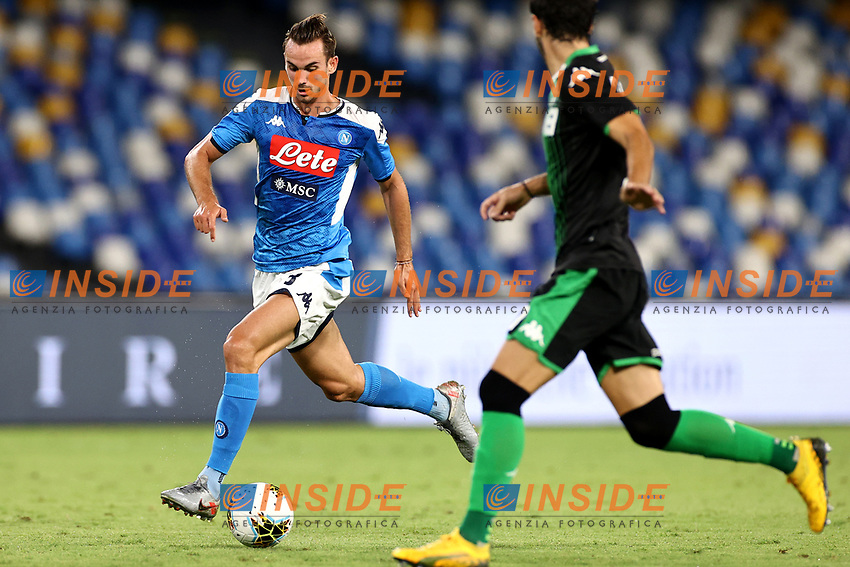 Fabian Ruiz of SSC Napoli in action during the Serie A football match between SSC Napoli and US Sassuolo at stadio San Paolo in Napoli ( Italy ), July 25th, 2020. Play resumes behind closed doors following the outbreak of the coronavirus disease. <br /> Photo Cesare Purini / Insidefoto