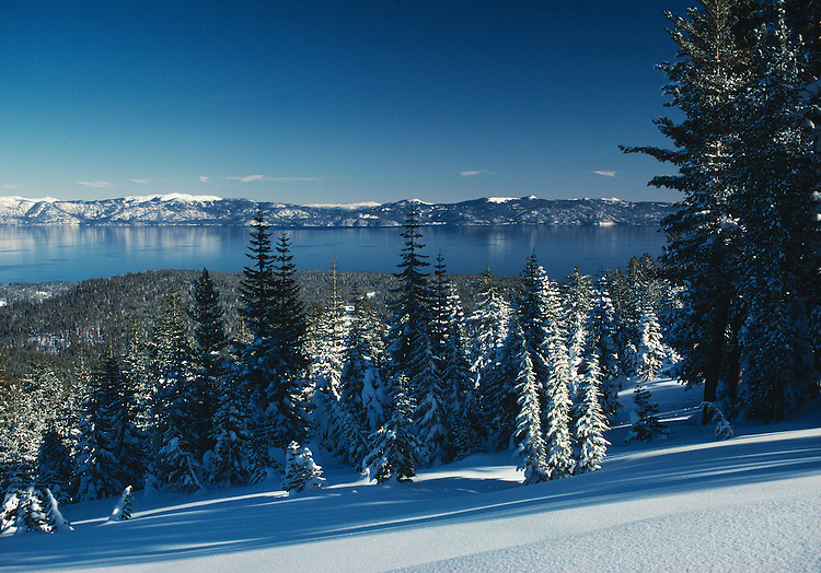 Lake Tahoe Landscape, Lake Tahoe Clear Water Winter