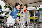 cookery demo by Kenmare Foodie, Karen Coakley with Sharon Noonan, west Limerick FM, at Listowel Farmers' Market on Friday