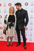 Duncan James and Mother arriving at the Tesco Mum Of The Year Awards 2014, at The Savoy, London. 23/02/2014 Picture by: Alexandra Glen / Featureflash