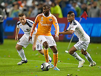 CARSON, CA - November 20, 2011: Houston Dynamo midfielder Luiz Camargo (17) during the MLS Cup match between LA Galaxy and Houston Dynamo at the Home Depot Center in Carson, California. Final score LA Galaxy 1, Houston Dynamo 0.