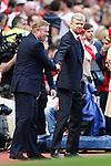 Manager of Arsenal Arsene Wenger and Ronald Koeman, Everton manager during the English Premier League match at the White Hart Lane Stadium, London. Picture date: May 21st 2017.Pic credit should read: Charlie Forgham-Bailey/Sportimage