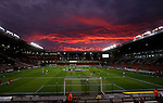 Spectacular sunset over Bramall Lane during the League One match at Bramall Lane Stadium, Sheffield. Picture date: September 27th, 2016. Pic Simon Bellis/Sportimage
