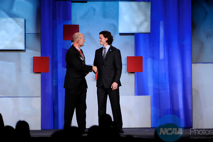 13 JAN 2011: The NCAA Honors Celebration inside the Grand Hyatt during the annual NCAA Convention held in San Antonio,TX. .Pictured: Zach Carr, Today's Top VIII Award Winner.(Joshua Duplechian/NCAA Photos).