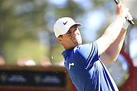 Lucas Bjerregaard (DEN) tees off the 6th tee during Sunday's Final Round 4 of the 2018 Omega European Masters, held at the Golf Club Crans-Sur-Sierre, Crans Montana, Switzerland. 9th September 2018.<br /> Picture: Eoin Clarke | Golffile<br /> <br /> <br /> All photos usage must carry mandatory copyright credit (&copy; Golffile | Eoin Clarke)