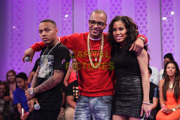 NEW YORK, NY -  JUNE 18: Bow Wow, TI and Keshia Chante visit 106 &amp; Park at BET studio on June 18, 2014 in New York City. <br /> CAP/MPI/COR<br /> &copy;COR/MPI/Capital Pictures