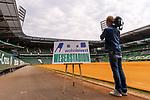 14.06.2019, Wohninvest Weserstadion, Bremen, GER, 1.FBL, Werder Bremen Partnerschaft mit Wohninvest, <br /> <br /> Werder Bremen hat die Namensrecht für 10 Jahre an die Wohninvest in Stuttgart verkauft. Das Stadiuon wird künftig wohninvest Weserstadion heißen<br /> im Bild<br /> <br /> Stadionanzeige Ostkurve<br /> <br /> Foto © nordphoto / Kokenge