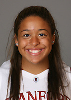 STANFORD, CA - SEPTEMBER 28:  Grace Mashore of the Stanford Cardinal women's basketball team poses for a headshot on September 28, 2009 in Stanford, California.
