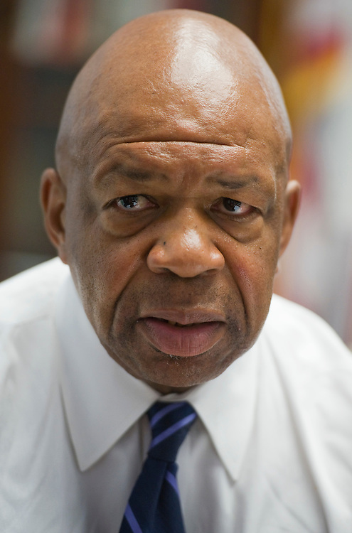 UNITED STATES - JUNE 09:  Rep. Elijah Cummings, D-Md., is interviewed by Roll Call in his Rayburn office. (Photo By Tom Williams/Roll Call)
