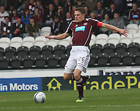 Marius Zaliukas in the St Mirren v Heart of Midlothian Clydesdale Bank Scottish Premier League match played at St Mirren Park, Paisley on 15.9.12.