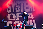 System of a Down - vocalist Serj Tankian performing live as the headline act on the Main Stage on Day 2 of the 2011 Download Festival at Donington Park UK - 11 Jun 2011.  Photo credit: George Chin/IconicPix