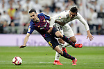 Real Madrid CF's Carlos Henrique Casemiro and FC Barcelona's Sergio Busquets during La Liga match. March 02,2019. (ALTERPHOTOS/Alconada)