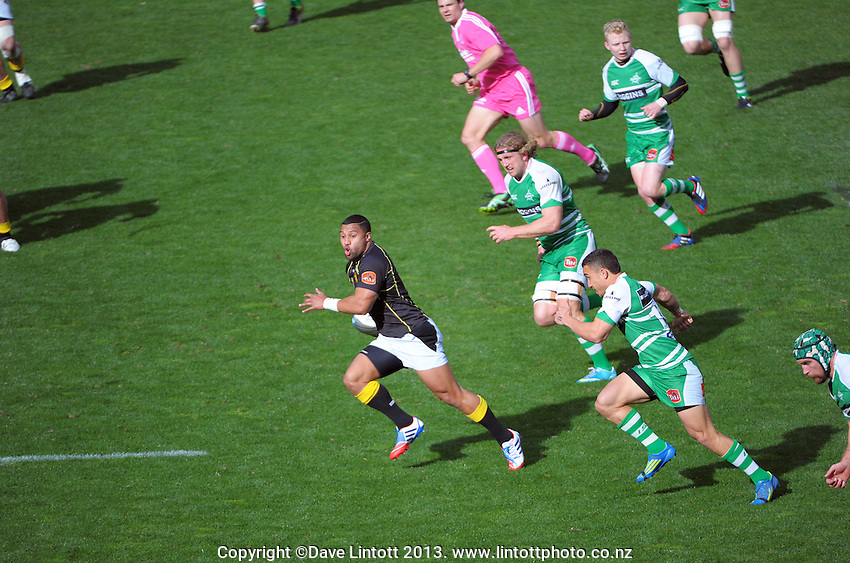 Lima Sopoaga makes a break during the ITM Cup rugby union match between the Wellington Lions and Manawatu Turbos at Westpac Stadium, Wellington, New Zealand on Saturday, 1 September 2011. Photo: Dave Lintott / lintottphoto.co.nz