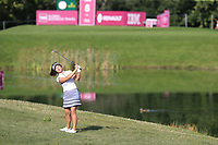 Su Oh (AUS) chips into the 5th green during Thursday's Round 1 of The Evian Championship 2018, held at the Evian Resort Golf Club, Evian-les-Bains, France. 13th September 2018.<br /> Picture: Eoin Clarke | Golffile<br /> <br /> <br /> All photos usage must carry mandatory copyright credit (© Golffile | Eoin Clarke)
