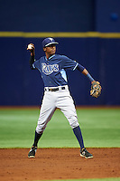 Tampa Bay Rays Joseph Astacio (83) during an instructional league game against the Boston Red Sox on September 24, 2015 at Tropicana Field in St Petersburg, Florida.  (Mike Janes/Four Seam Images)