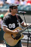 August 15 2008:  Pat McGee Band before a game at U.S. Cellular Field in Chicago, IL.  Photo by:  Mike Janes/Four Seam Images