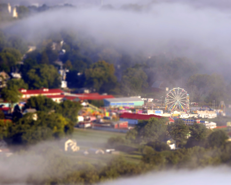 The Three County Fair is seen in Northampton on Monday, September 1, 2008.