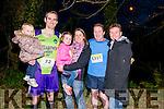 L-R Sarah, Martin, Ella and Lisa Crowley, John and Patricia O'Neill all from Killarney at the finish line of Killarney Good Friday 5 miles Run last Friday.