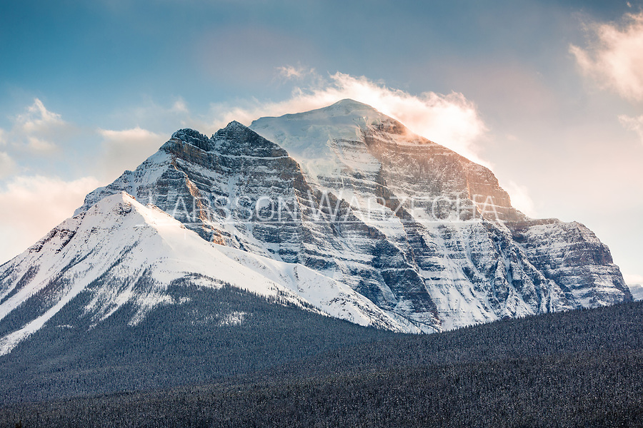 Mt Temple at sunset, Banff National Park, Alberta, Canada