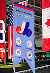 24 November 2008: The Montreal Expos, a former MLB franchise, has its retired jersey numbers commemorated with a hanging banner in the rafters of the Bell Centre in Montreal, Quebec, Canada. ****Editorial Use Only****..Mandatory Photo Credit: Ed Wolfstein Photo *** Editorial Sales through Icon Sports Media *** www.iconsportsmedia.com