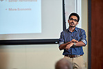 """Sk Abu Talha, a Masters Student studying Civil Engineering in the Russ College of Engineering and Technology presents his thesis entitled """"Evaluation of Bond Strength of Micro-surfacing mixes With and Without Tack Coat""""."""
