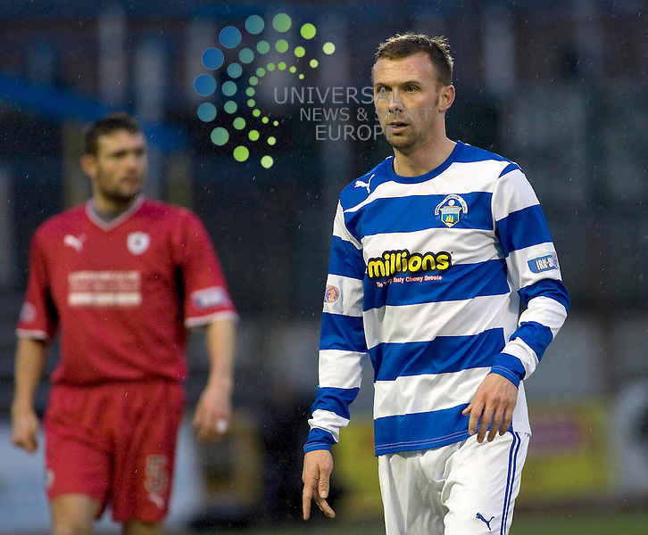 Colin McMenamin (12) new signing and makling debut for Greenock Morton during the Greenock Morton V Raith Rovers  Irn Bru Scottish First Division Match 2012-2013 at Cappielow Park, Greenock  .Picture: Campbell Skinner/Universal News And Sport (Scotland) 26th January 2013..