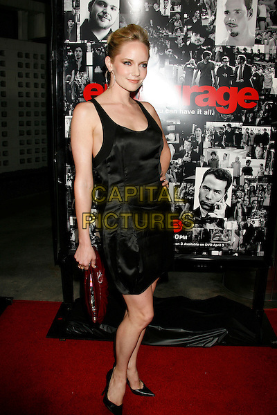 "MARLEY SHELTON.Attending the ""Entourage"" Third Season Los Angeles Premiere held at the ArcLight Cinemas Cinerama Dome. Hollywood, California, USA, 05 April, 2007..full length black dress .CAP/ADM/RE.©Russ Elliot/AdMedia/Capital Pictures."