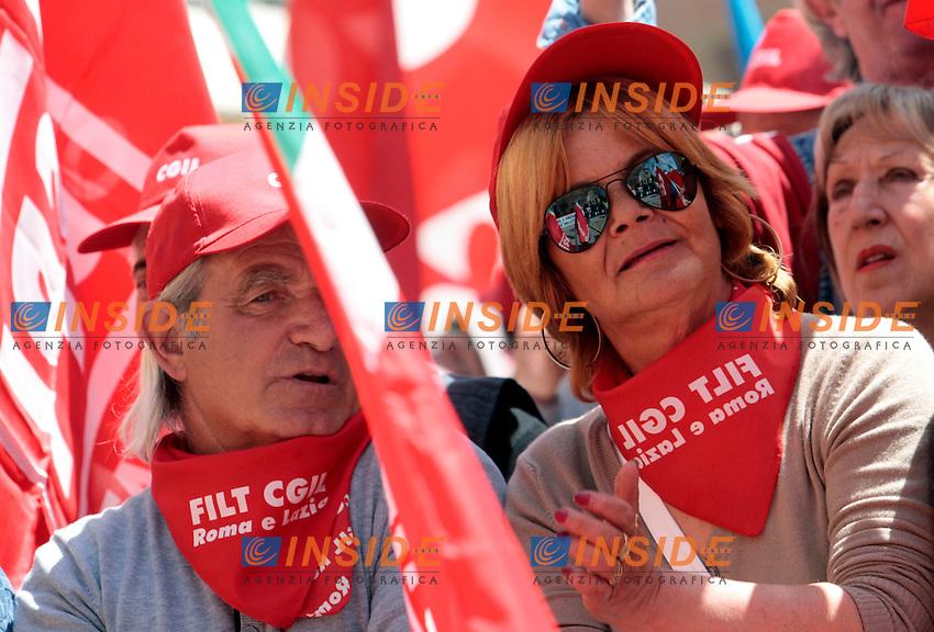 .Rieti 01/05/2012 Manifestazione Nazionale dei sindacati CGIL, CISL, UIL in occasione del Primo Maggio, Festa dei Lavoratori..Photo Samantha Zucchi Insidefoto