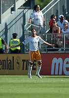 July 28, 2012: Houston Dynamo forward Calen Carr #3 celebrates his goal during a game between Toronto FC and the Houston Dynamo at BMO Field in Toronto, Ontario Canada..The Houston Dynamo won 2-0.